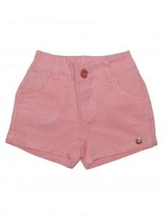 Shorts Infantil em Sarja Maquinetada - Have Fun