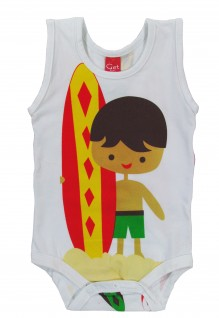 Body Regata Stica-Stica Surfistinha - Get Baby