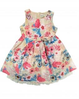 Vestido Infantil em Tafetá Estampado - Quimby