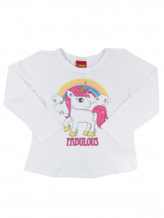 Blusa Infantil Unicórnio Fabulous - Kyly