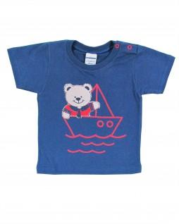 Camiseta Infantil Urso no Barco - Caramelo