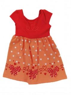 Vestido Infantil Laços e Corações - Big Day