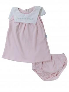 Vestido Bebê Pala Bordada Florzinhas - Piu Piu