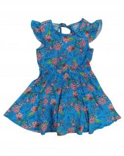 Vestido Infantil em Challis Estampado - Alenice