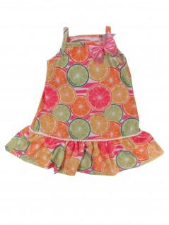 Vestido Bebê de Alça Frutas Coloridas - Big Day