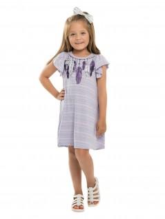 Vestido Infantil com Listras - Minore