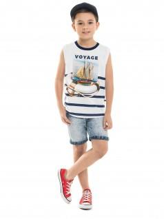 Camiseta infantil Regata Voyage - Minore