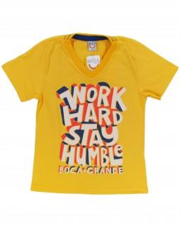 Camiseta Infantil Work Hard - Boca Grande