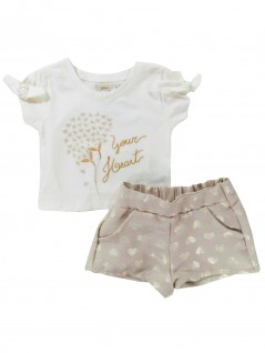 Conjunto Infantil Your Heart Dourado - Trick Nick