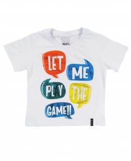 Camiseta Infantil Let me Play the Game - Minore